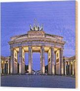 Brandenburger Tor Berlin Wood Print by Greta Schmidt