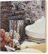 Bread Making Wood Print by Stephanie Frey