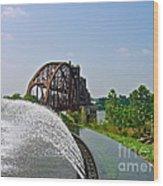 Bridge To The Past Wood Print by Joe Finney