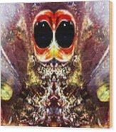 Bug Eyes Wood Print by Skip Nall
