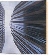 Buildings Abstract Wood Print by Svetlana Sewell