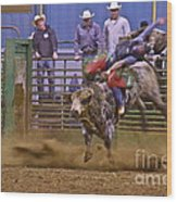 Bull Rider 1 Wood Print by Sean Griffin