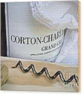 Burgundy Wine Wood Print by Frank Tschakert