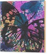Butterfly Bliss Wood Print by Oddball Art Co by Lizzy Love