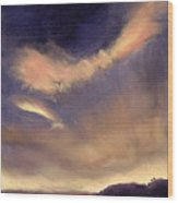 Butterfly Clouds Wood Print by Antonia Myatt