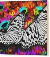 Butterfly Wood Print by Ilias Athanasopoulos