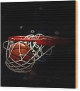 Buzzer Beater  Wood Print by Judge Howell