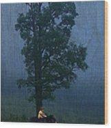 Callisto And Arcas Wood Print by Ron Jones