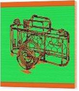 Camera 1c Wood Print by Mauro Celotti