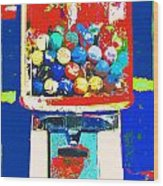 Candy Machine Pop Art Wood Print by ArtyZen Kids