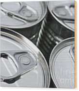 Canned Food Wood Print by Carlos Caetano