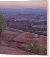 Canyonlands At Dusk Wood Print by Andrew Soundarajan