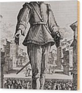 Capitano, A Stock Character Wood Print by Everett