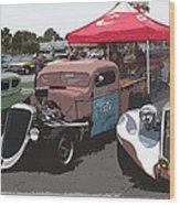 Car Show Hot Rods Wood Print by Steve McKinzie