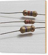 Carbon Film Resistors Wood Print by Photo Researchers, Inc.
