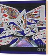 Card Tricks Wood Print by Bob Christopher