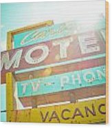 Carlyle Motel Wood Print by David Waldo