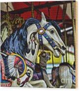 Carousel Horse 6 Wood Print by Paul Ward