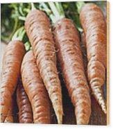 Carrots Wood Print by Elena Elisseeva