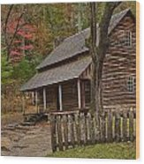 Carter House Wood Print by Charles Warren