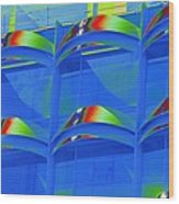 Casals Bells In Blue Wood Print by Richard Henne