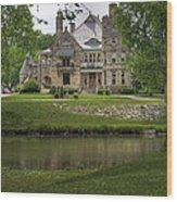 Castle Across River Wood Print by Fred Lassmann