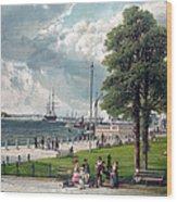 Castle Garden, New York, Showing Wood Print by Everett
