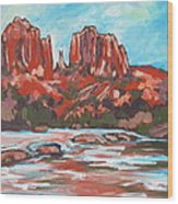 Cathedral Rock 2 Wood Print by Sandy Tracey
