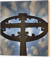 Celtic Cross Wood Print by Phil Bongiorno