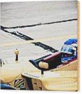 Champ Car Driver Wood Print by Darcy Michaelchuk