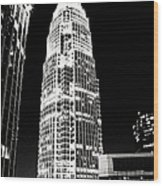 Charlotte North Carolina Bank Of America Building Wood Print by Kim Fearheiley
