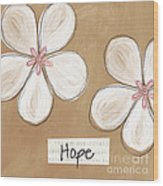 Cherry Blossom Hope Wood Print by Linda Woods