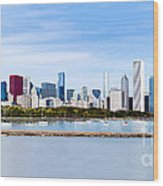 Chicago Panarama Skyline Wood Print by Paul Velgos