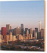 Chicago Panoramic  Wood Print by Jeff Lewis