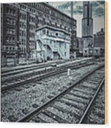 Chicago Rail Station Wood Print by Donald Schwartz