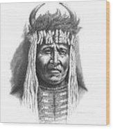 Chief Big Face Wood Print by Lee Updike