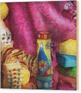 Children - Toy - Earliest Childhood Memories Wood Print by Mike Savad