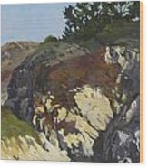 China Cove Cliffs Wood Print by Marian Fortunati