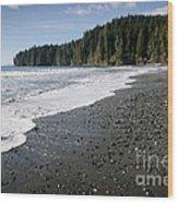 China Wave China Beach Juan De Fuca Provincial Park Vancouver Island Bc Wood Print by Andy Smy