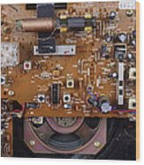 Circuit Board In A Portable Radio Wood Print by Andrew Lambert Photography
