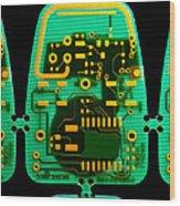 Circuit Boards Wood Print by Adam Hart-davis