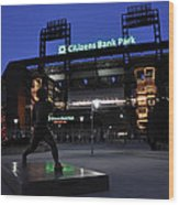 Citizens Bank Park Wood Print by Andrew Dinh