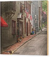 City - Rhode Island - Newport - Journey  Wood Print by Mike Savad
