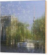 City-art Berlin River Spree Wood Print by Melanie Viola