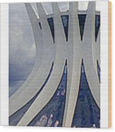 Citymarks Brasilia Wood Print by Roberto Alamino