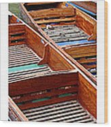 Citymarks Cambridge Wood Print by Roberto Alamino