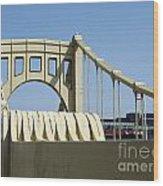 Clemente Bridge Wood Print by Chad Thompson