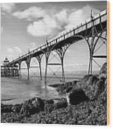 Clevedon Pier Wood Print by Photographer Nick Measures