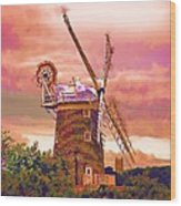 Cley Windmill 2 Wood Print by Chris Thaxter