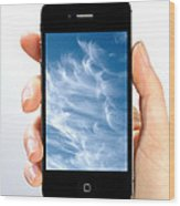 Cloud Computing Wood Print by Photo Researchers